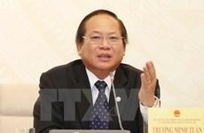 越南国家主席签发决定  暂停张明俊执行信息传媒部部长职务