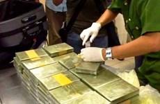 巴地头顿省发现废钢进口集装箱内100块可卡因砖