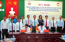 承天顺化省祖国阵线与老挝沙拉湾省建国阵线进一步加强合作