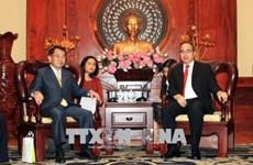 胡志明市市委书记阮善仁会见日本议员代表团一行