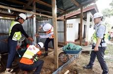 老挝水电站溃坝事件 :韩国SK工程及建筑公司为灾民兴建临时住宅