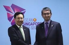 新加坡AMM 51:范平明分别会见日本外务省大臣河野太郎和伊朗外长扎里夫