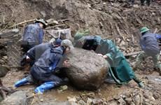 莱州省封土县因遭连日暴雨发生严重山体滑坡使6人死亡