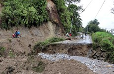 莱州省积极开展灾后公路清理和修复工作