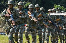 印度与泰国进行反恐演习