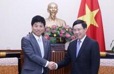政府副总理兼外长范平明会见日本外务省副大臣中根一幸