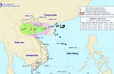8月16日夜第四号台风直接影响广宁至乂安各省