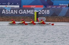 ASIAD 2018:越南代表团获喜人成绩   赛艇项目斩获首金