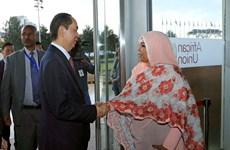 越南国家主席陈大光会见非洲联盟委员会代理主席