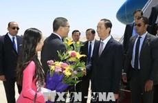 越南国家主席陈大光开始对埃及进行国事访问