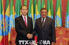越南国家主席陈大光圆满结束对埃塞进行的国事访问