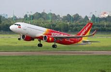 越捷出售越南河内至日本东京直达航线的250万张零越盾起的机票
