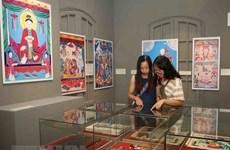 越南民间绘画作品展在升龙皇城开展