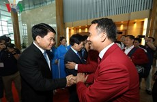 ASIAD 2018:越南体育代表团受到国内人民的热烈欢迎