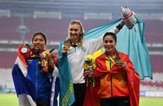 雅加达亚运会最后比赛日:越南在奖牌榜上排名第17位