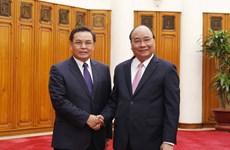 阮春福会见来访的老挝建国阵线中央委员会主席赛宋蓬·丰威汉