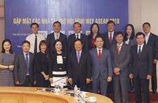 越南企业同政府携手举办2018年世界经济论坛东盟峰会