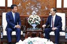 国家主席陈大光会见越日关系特别大使杉良太郎