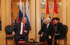 越共中央总书记阮富仲会见俄罗斯共产党主席