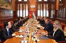越共中央总书记阮富仲与匈牙利总理维克多·欧尔班举行会谈  提升越匈两国关系水平