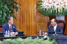 越南政府总理阮春福会见韩国工业联合会主席许昌洙