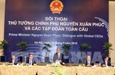 WEF ASEAN 2018:政府总理阮春福与全球各家集团领导进行对话