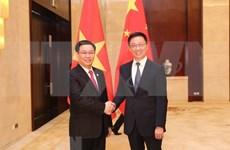 越南政府副总理王廷惠与中国国务院副总理韩正举行会谈
