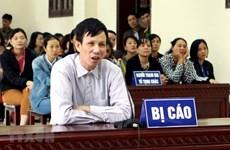 """河内市高级人民法院维持对涉嫌""""煽动颠覆人民政府""""罪名的阮文足被告的原判"""