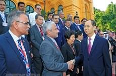 越南国家主席陈大光会见亚审组织各机构代表团团长
