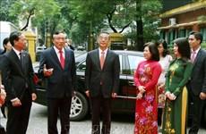 越中两国最高人民法院增强司法领域合作