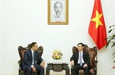 越南政府副总理王廷惠会见保加利亚经济部部长
