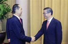 越南国家主席陈大光会见中国最高人民法院院长周强