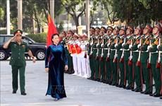 越南国会主席阮氏金银出席国防学院2018-2019学期开学典礼