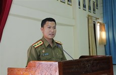 老挝公安部总政治局干部战士越语培训班正式开班
