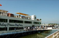 ASOSAI 14: 最高审计机关亚洲组织代表团参观广宁省下龙湾