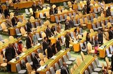 联合国大会为越南国家主席陈大光逝世默哀一分钟