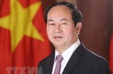 中国国务院总理李克强就越南国家主席陈大光逝世致唁电