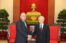 越共中央总书记阮富仲会见古巴高级代表团