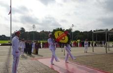 旅居泰国越侨代表团入陵瞻仰胡志明主席遗容