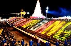 2018年崑山-劫泊秋季庙会祈安法会和放花灯活动在六头江上举行