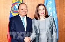 越南政府总理阮春福会见第73届联合国大会主席和联合国秘书长