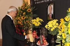 越南驻西班牙、委内瑞拉大使馆举行隆重仪式 吊唁陈大光主席