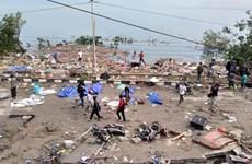 印尼地震海啸灾难中至少有832人死亡