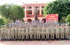 越南赴南苏丹二级野战医院的维和人员严阵以待