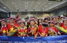 越南学生在国际数学和科学奥林匹克比赛拿下8金 创下新记录
