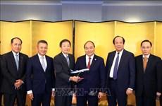 越南政府总理阮春福会见部分日本企业领导