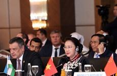 越南国会主席阮氏金银在第三届欧亚国家议长会上发表重要讲话