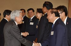 阮春福等湄公河国家领导人拜访日本天皇和皇太子