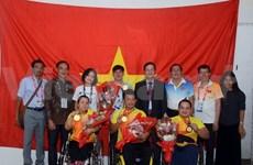 越南体育代表团已夺得四枚金牌、一枚银牌和五枚铜牌  越南驻印尼大使表示祝贺