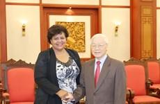 越共中央总书记阮富仲会见古巴客人